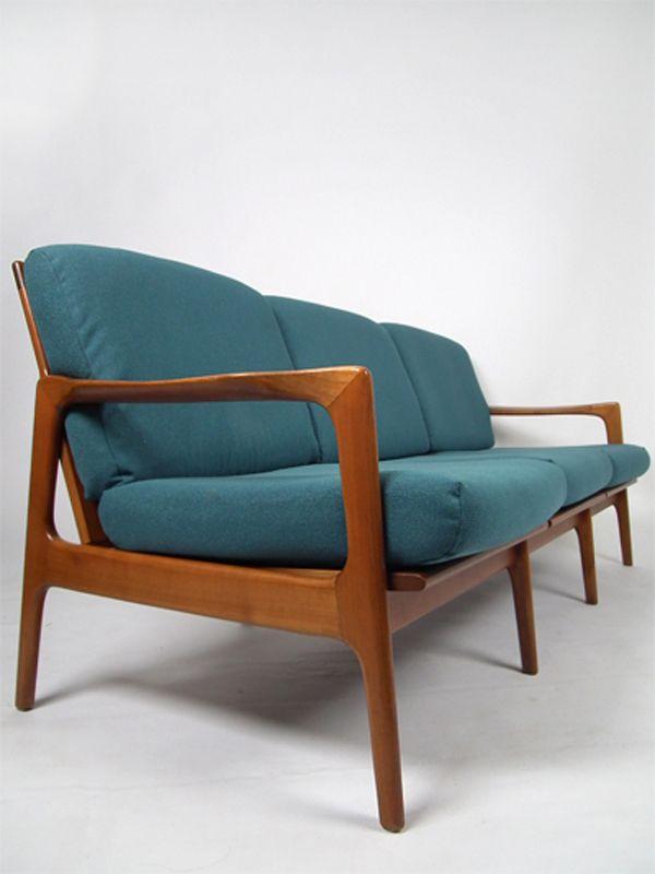 skandinavisches dreisitzer teak sofa bei pamono kaufen. Black Bedroom Furniture Sets. Home Design Ideas