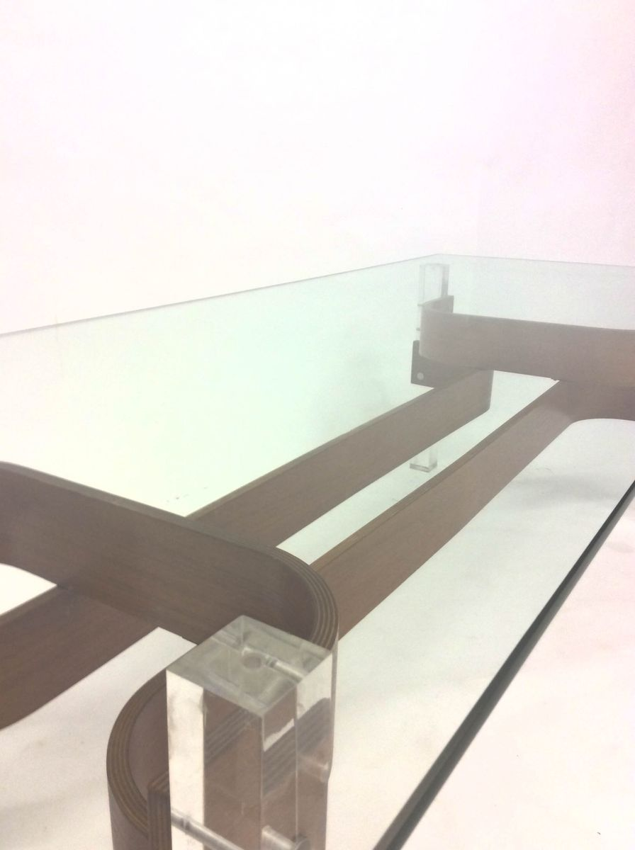 Mid Century Glass & Perspex Coffee Table, 1960s