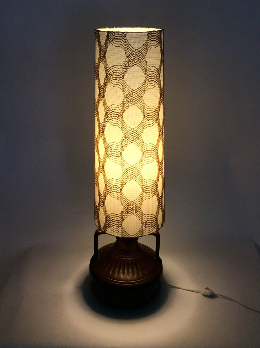 Ceramic base floor lamp 1970s for sale at pamono for 1970s floor lamps