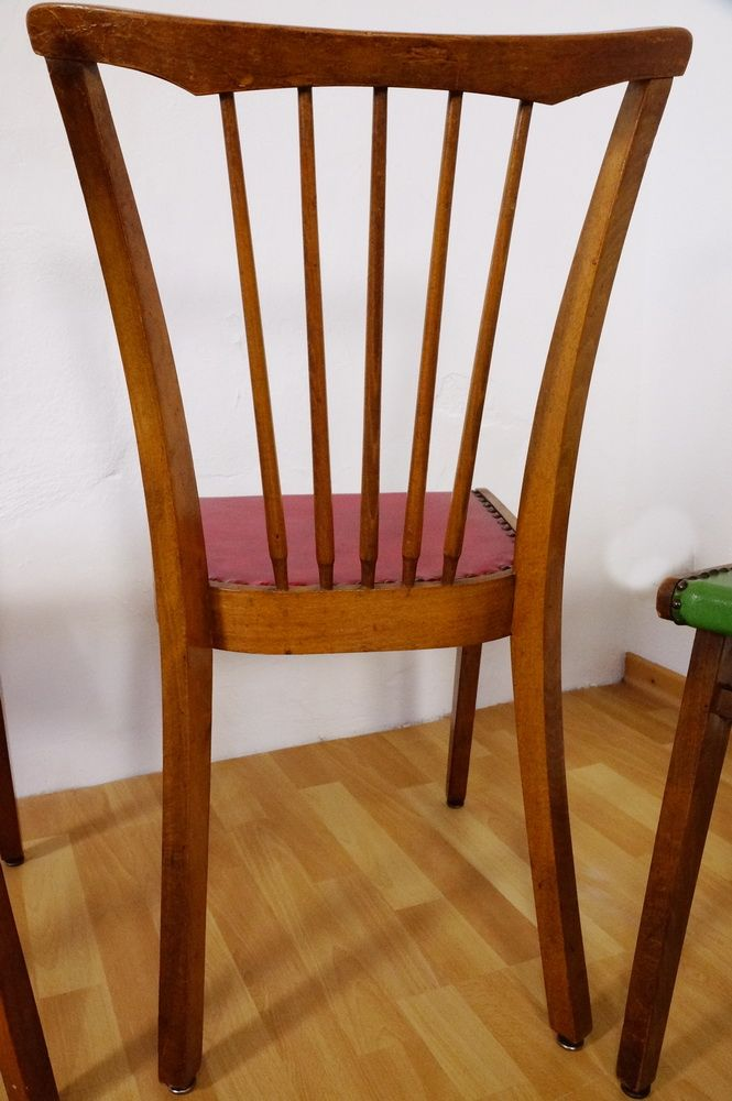 Vintage Coloured Kitchen Chairs Set Of 4 For Sale At Pamono