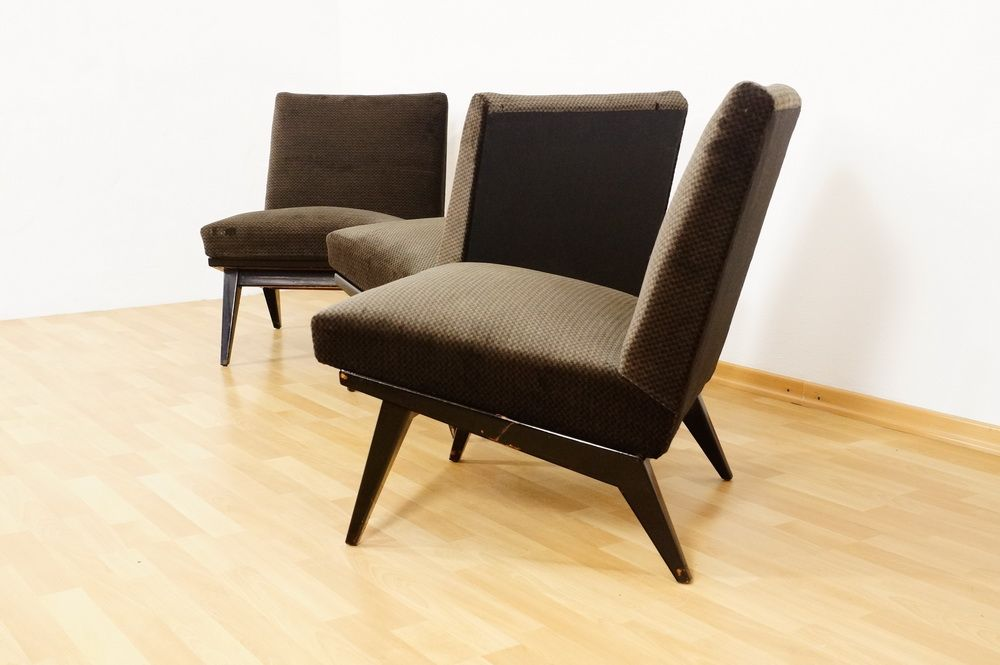 Mid Century Lounge Chairs By Jens Risom For H G Knoll