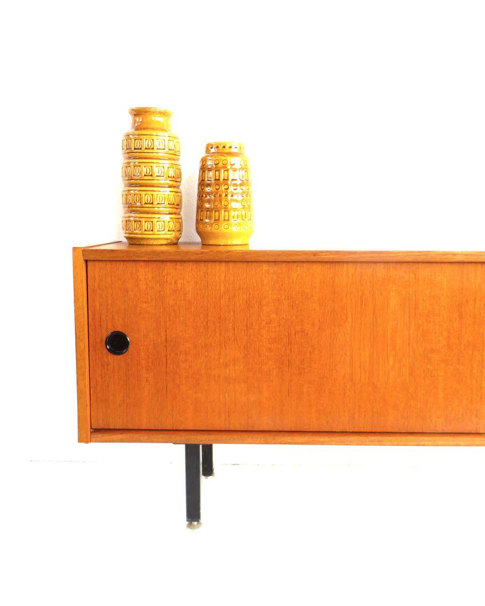 vintage lowboard with sliding doors 1960s for sale at pamono. Black Bedroom Furniture Sets. Home Design Ideas