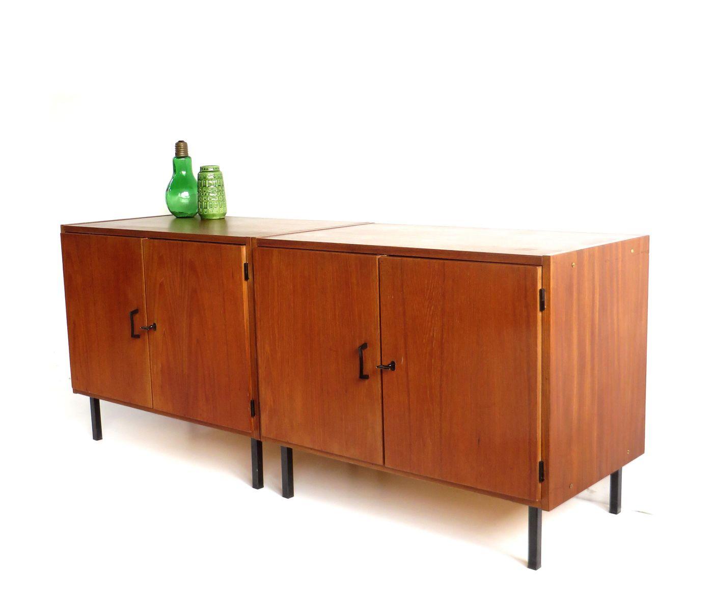 Teak sideboards 1960s set of 2 for sale at pamono for Sideboard 3 meter lang
