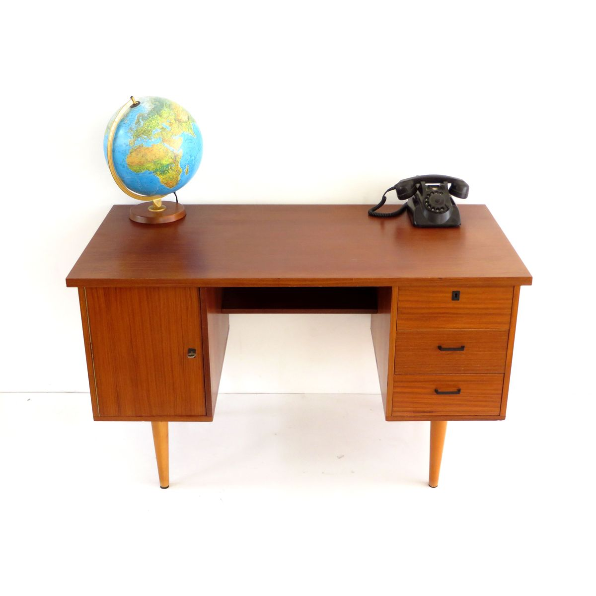 Vintage Dutch Teak Wood Writing Desk on Latest Writing Desk With Drawers