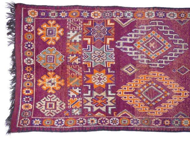 moroccan vintage boujad berber rug