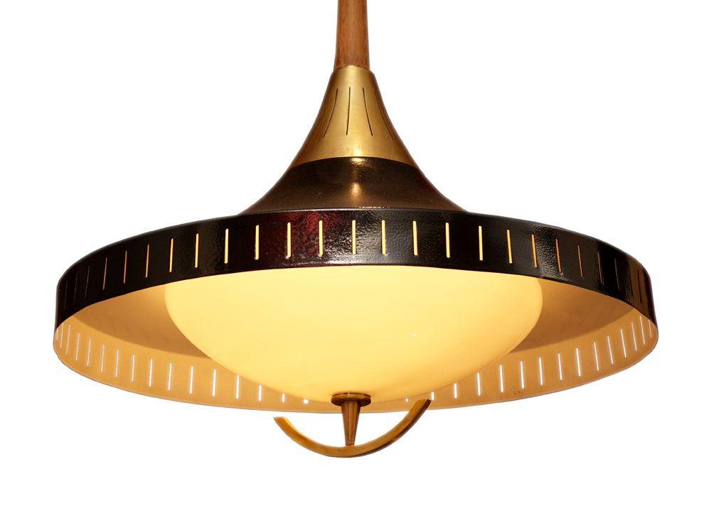 vintage danish suspension lamp 1950s for sale at pamono. Black Bedroom Furniture Sets. Home Design Ideas
