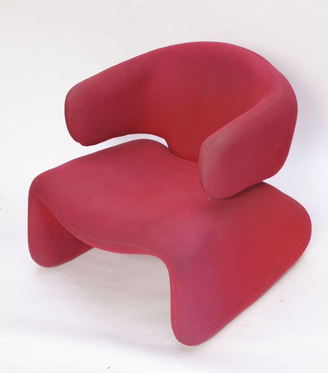 rote djinn sessel von olivier mourgue f r airborne 1965 2er set bei pamono kaufen. Black Bedroom Furniture Sets. Home Design Ideas