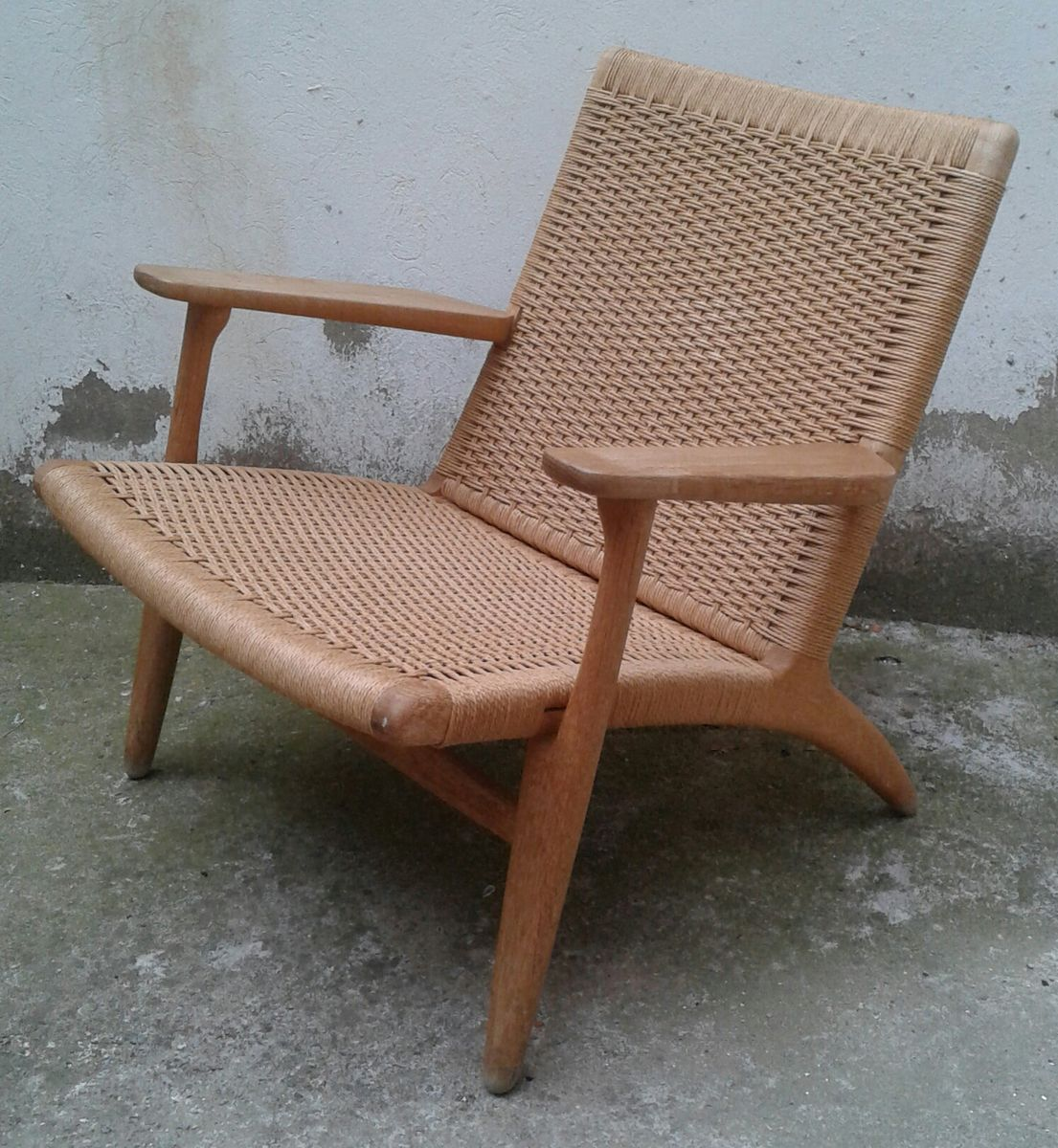 ch25 lounge chair by hans wegner for carl hansen son for sale at pamono. Black Bedroom Furniture Sets. Home Design Ideas