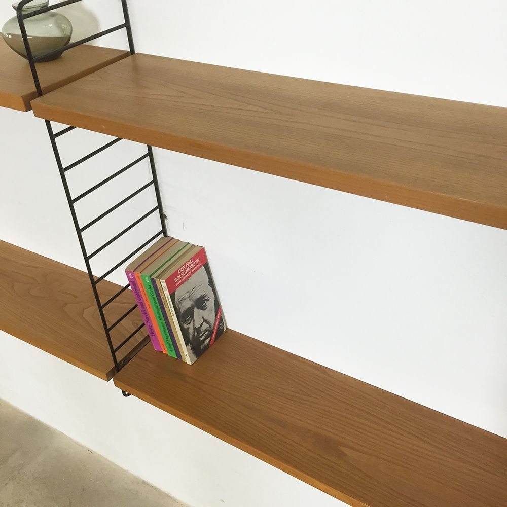 string regalsystem von nisse strinning f r string furniture 1960er bei pamono kaufen. Black Bedroom Furniture Sets. Home Design Ideas
