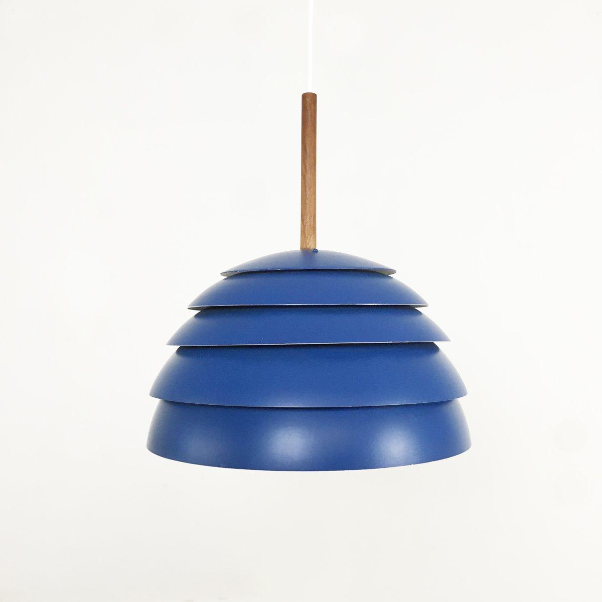 Blue Pendant Light By Hans Agne Jakobsson For Hans Agne