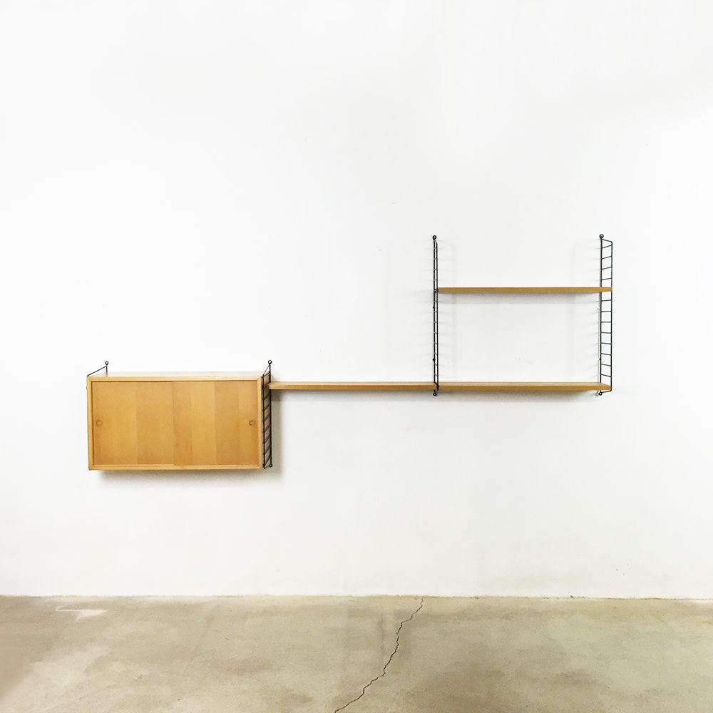 rayon mid century par nisse strinning pour string furniture en vente sur pamono. Black Bedroom Furniture Sets. Home Design Ideas