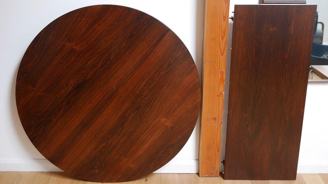 erweiterbarer runder palisander esstisch von borge rammeskov für, Esstisch ideennn