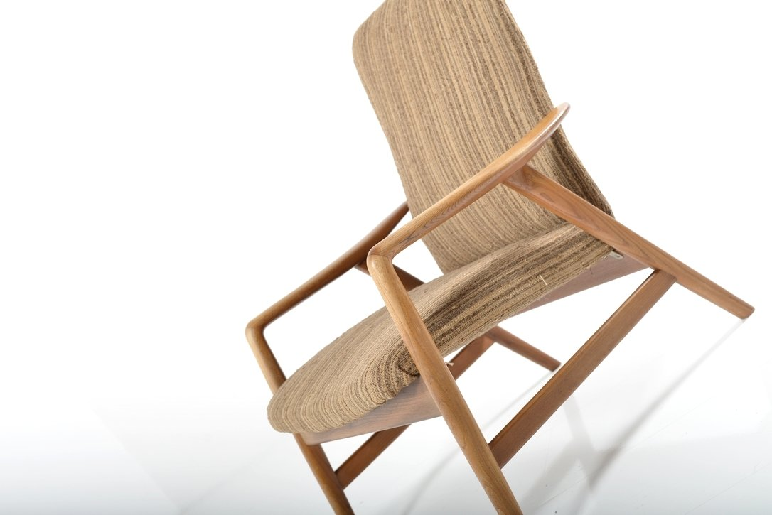 Mid Century Lounge Chair by Alf Svensson for Fritz Hansen 1960s
