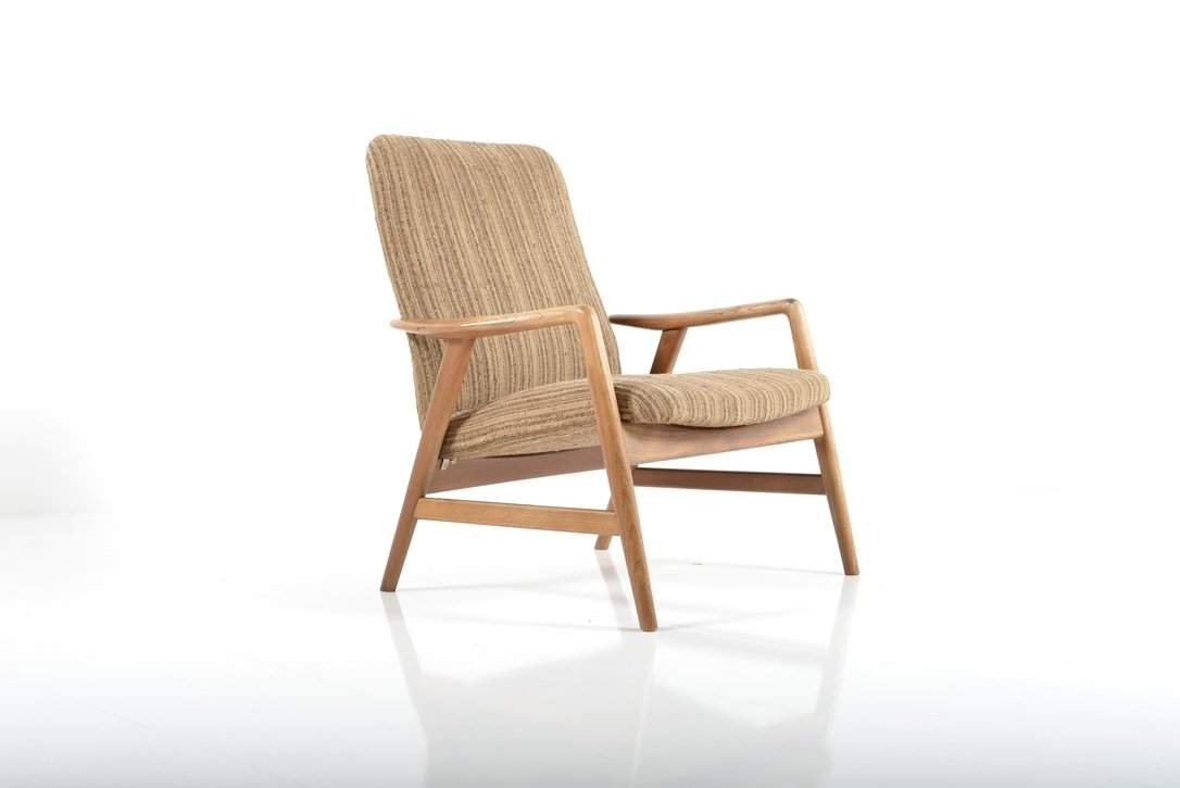 Mid Century Lounge Chair By Alf Svensson For Fritz Hansen 1960s For Sale At