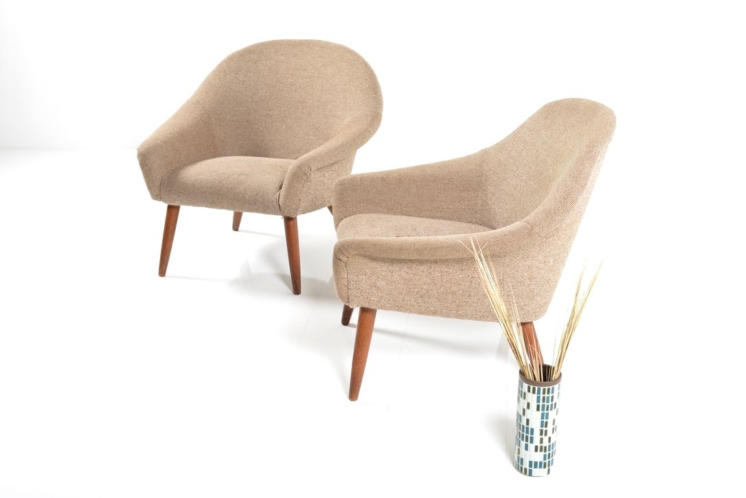 Mid Century Danish Lounge Chair 1950s Set of 2 for sale at Pamono