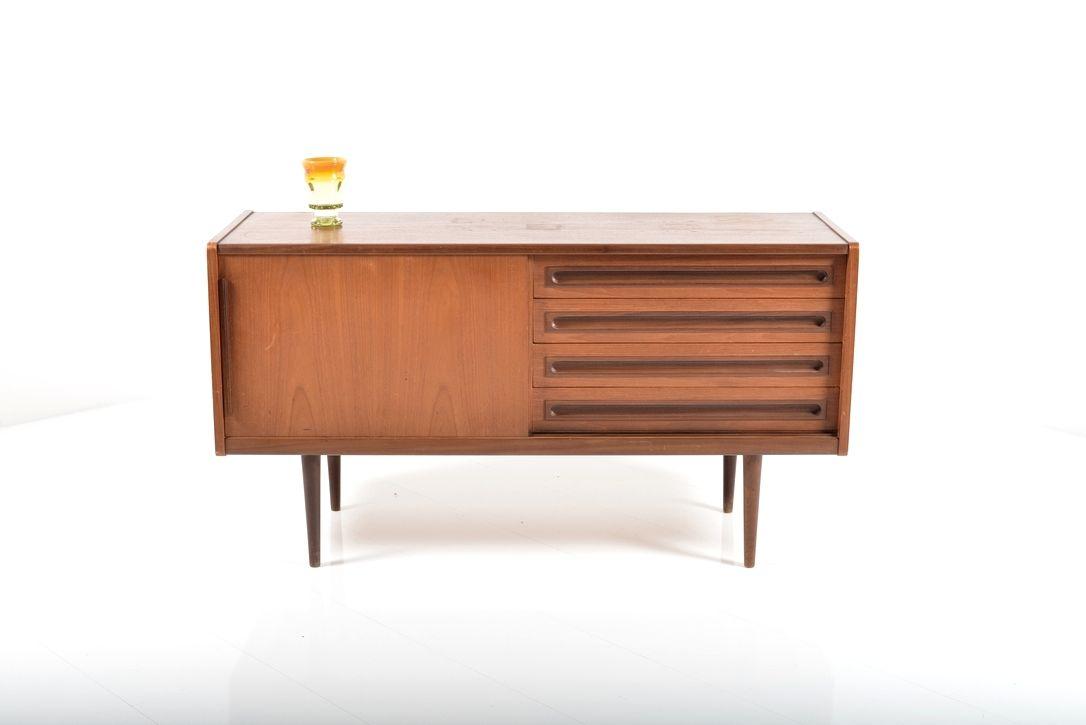mid century sideboard by johannes andersen 1950s for sale. Black Bedroom Furniture Sets. Home Design Ideas