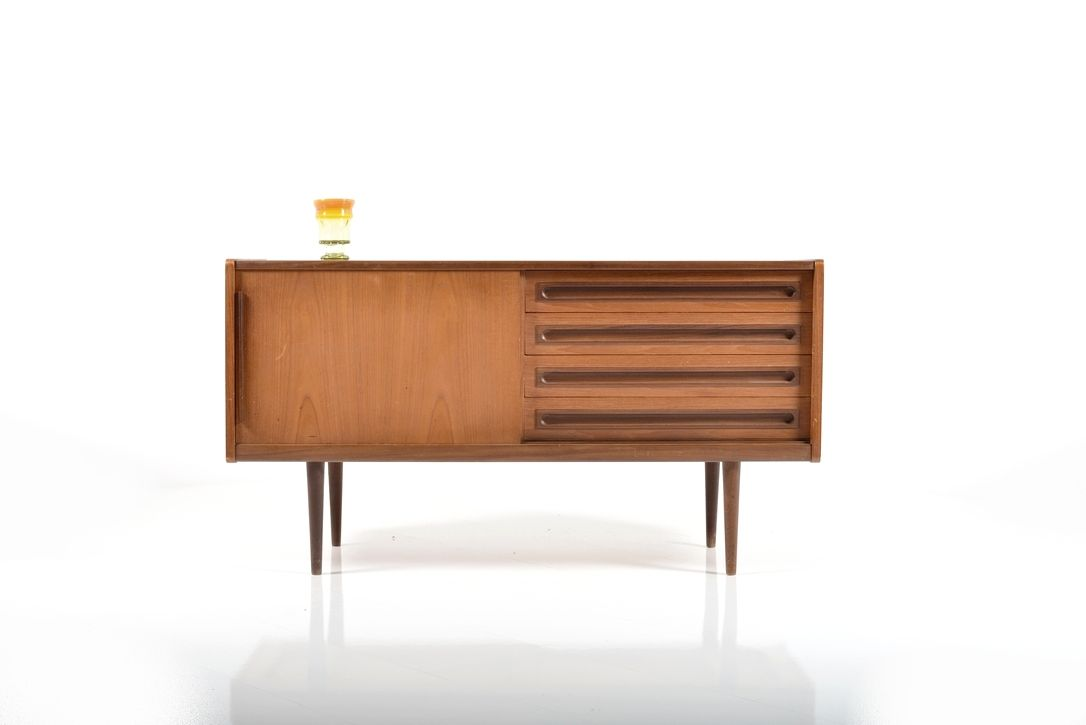 mid century sideboard by johannes andersen 1950s for sale. Black Bedroom Furniture Sets. Home Design Ideas