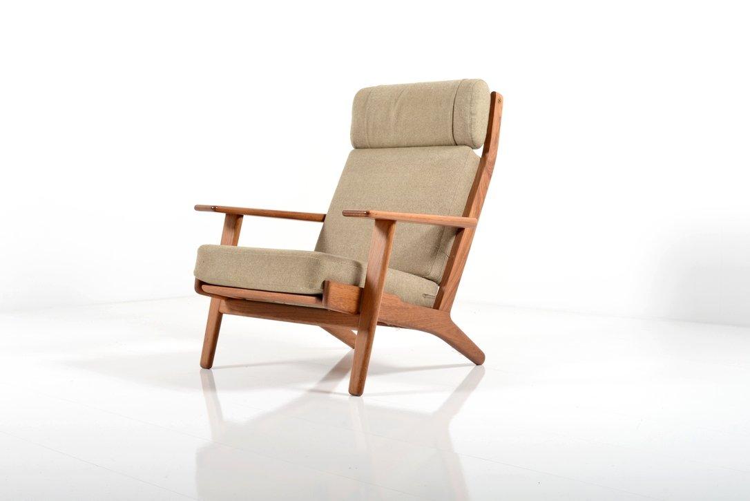 ge 290 teak sessel von hans j wegner f r getama 1960er. Black Bedroom Furniture Sets. Home Design Ideas