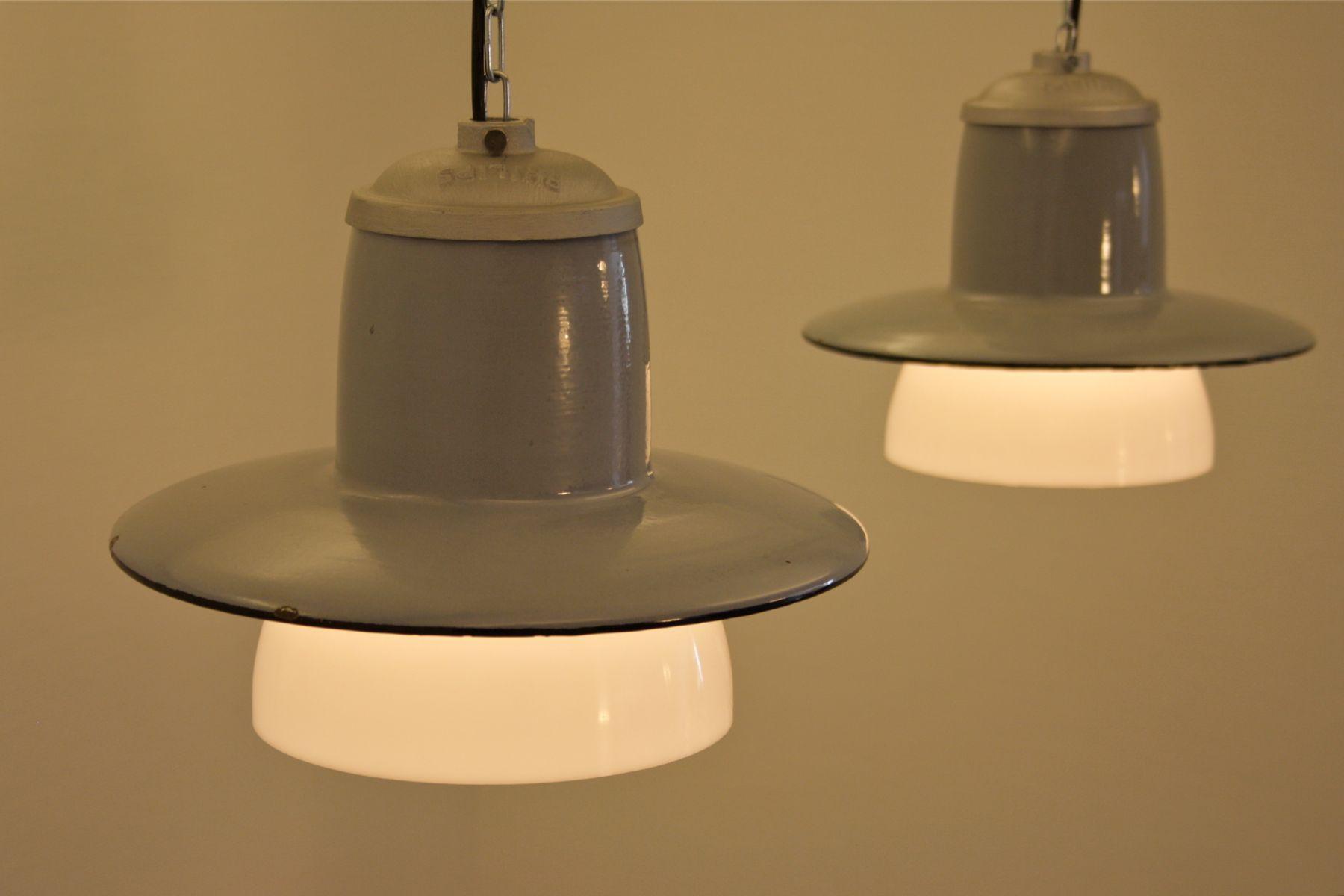 industrie h ngelampe von philips 1950er bei pamono kaufen. Black Bedroom Furniture Sets. Home Design Ideas