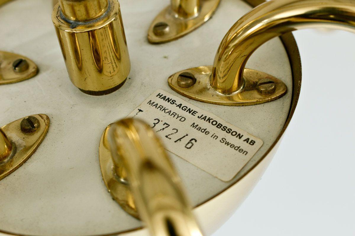 chandelier by hans agne jakobsson for markaryd for sale at. Black Bedroom Furniture Sets. Home Design Ideas