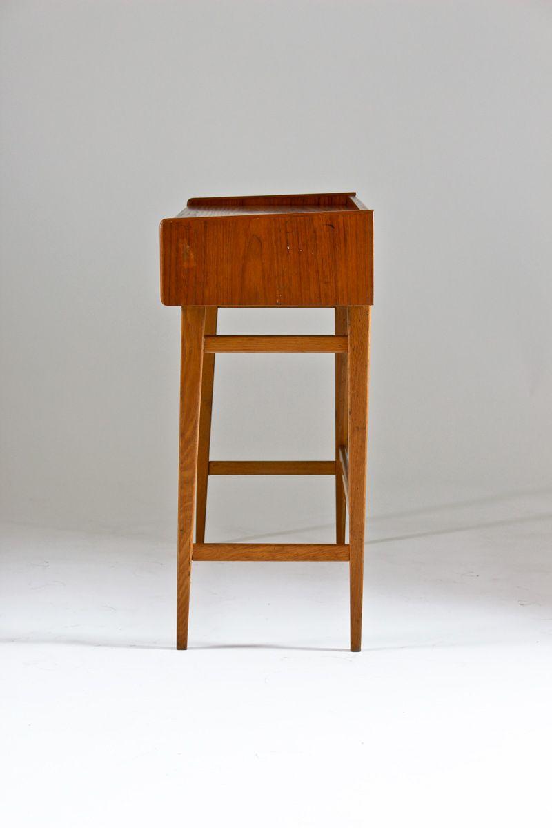 schwedischer teak vintage schreibtisch 1950er bei pamono. Black Bedroom Furniture Sets. Home Design Ideas