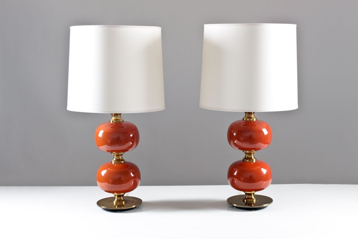 table lamps from tran s stilarmatur 1960s set of 2 for. Black Bedroom Furniture Sets. Home Design Ideas