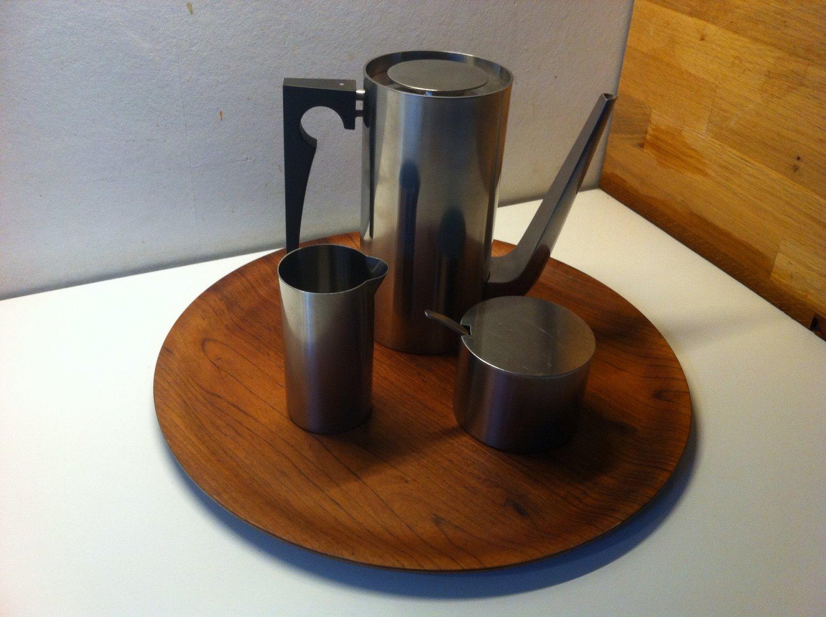 Cylinda Line Mokka Coffee Set By Arne Jacobsen For Stelton
