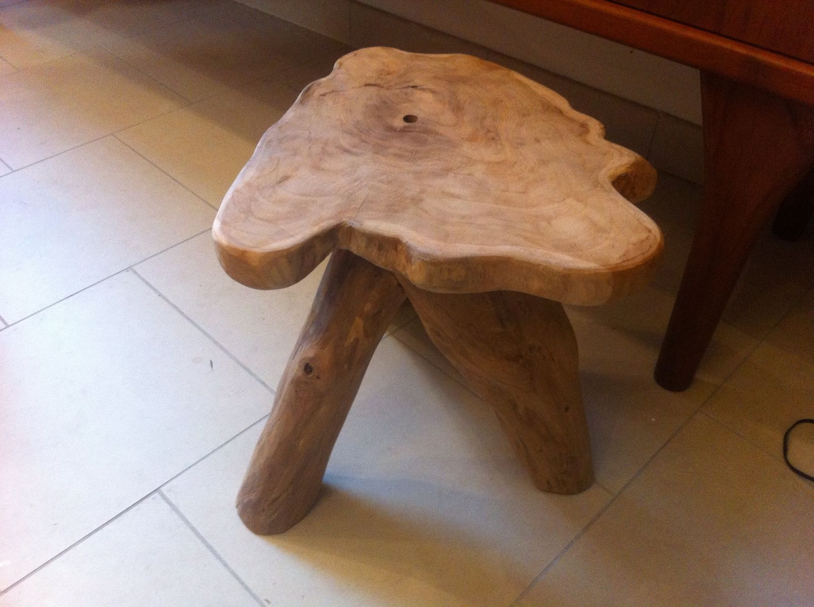 Three legged wooden stool s for sale at pamono