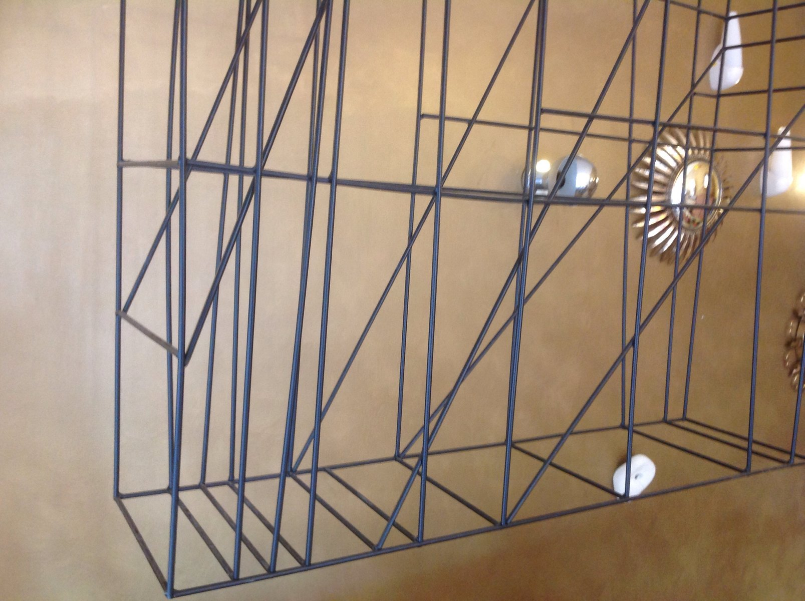 mid century metal room divider for sale at pamono - mid century metal room divider