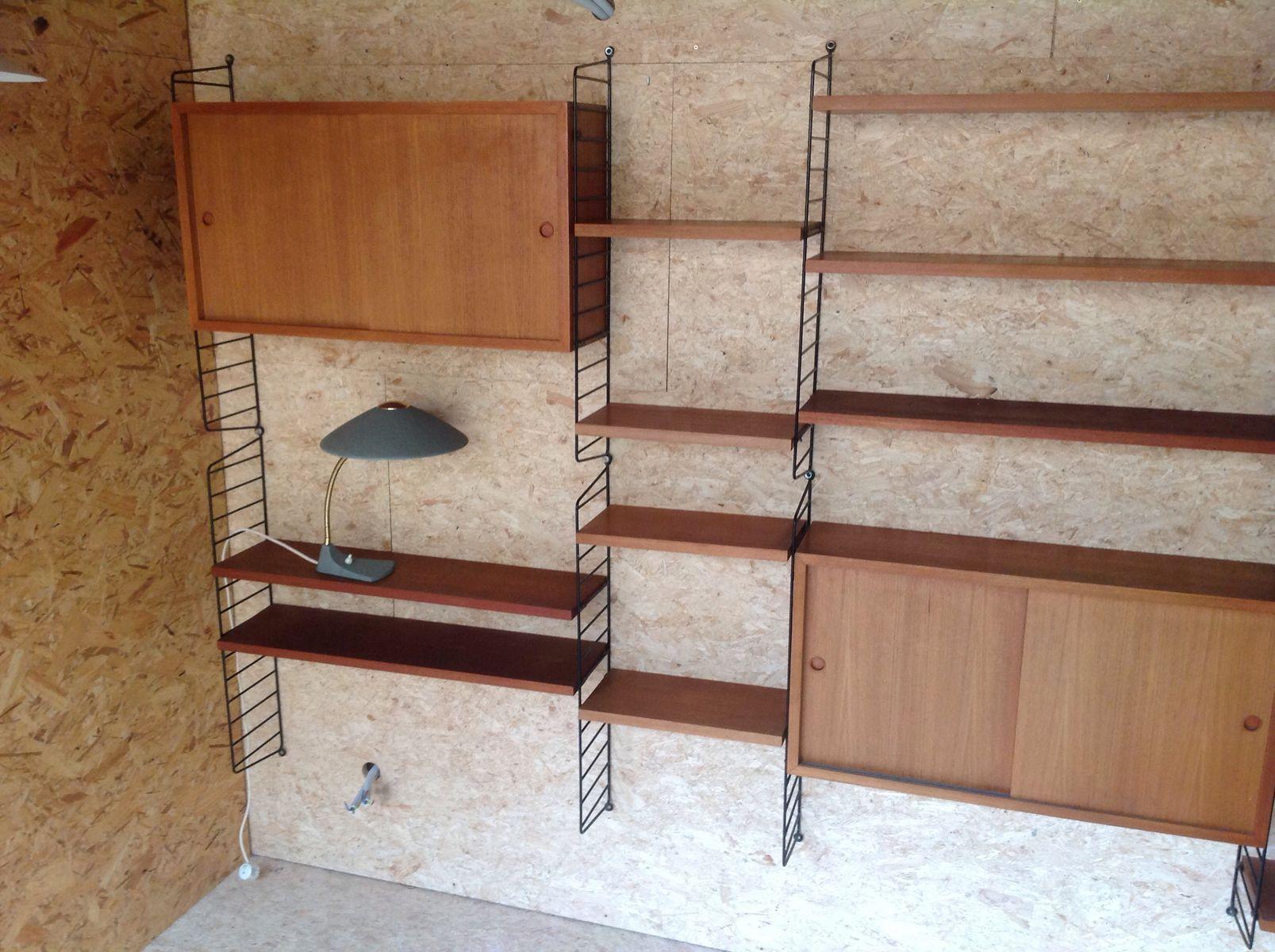 wandregal von nisse strinning f r string 1959 bei pamono kaufen. Black Bedroom Furniture Sets. Home Design Ideas
