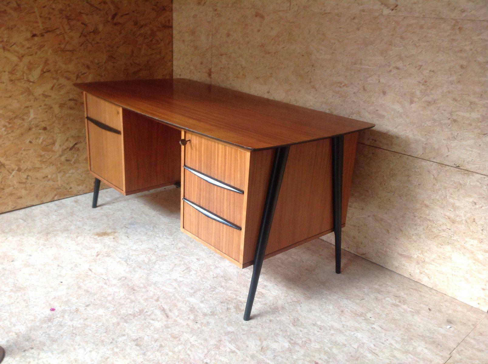mid century schreibtisch von alfred hendrickx f r belform bei pamono kaufen. Black Bedroom Furniture Sets. Home Design Ideas