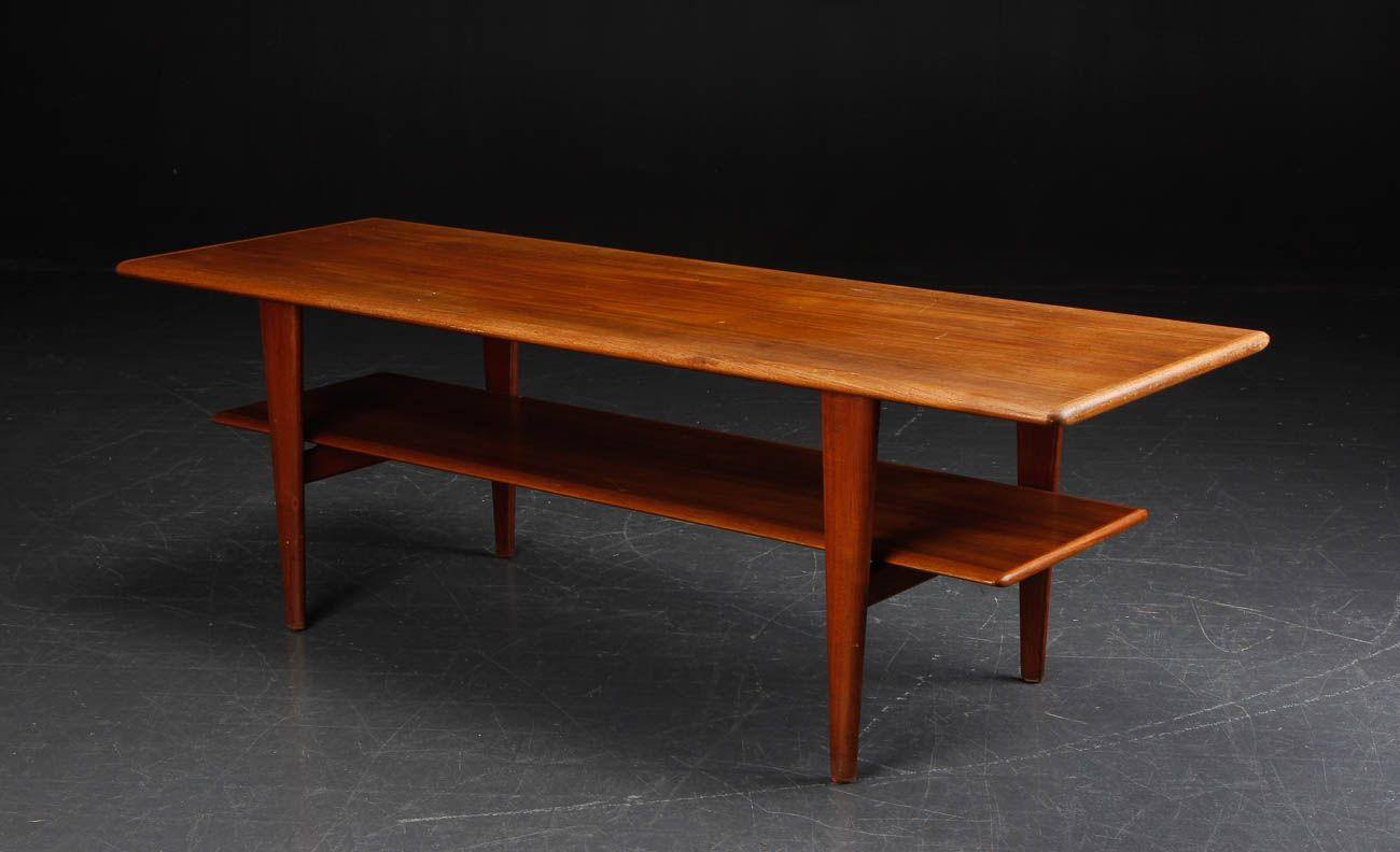 Vintage Danish Teak Coffee Table For Sale At Pamono