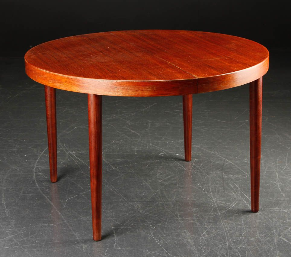 vintage round dining table by kai kristiansen 1960s for sale at pamono. Black Bedroom Furniture Sets. Home Design Ideas