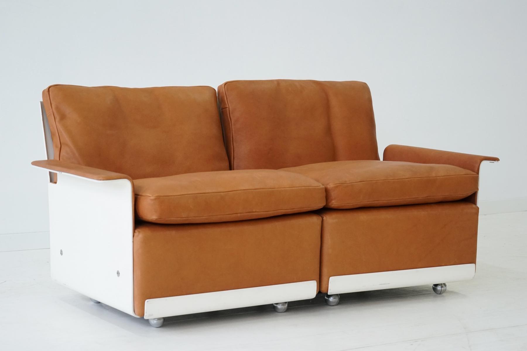 modulares rz 62 620 zwei sitzer sofa aus leder von dieter rams f r vitsoe 1960er bei pamono kaufen. Black Bedroom Furniture Sets. Home Design Ideas