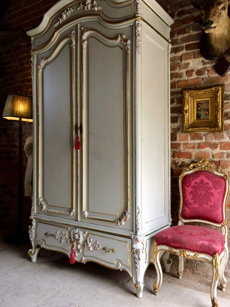 Vintage french armoire wardrobe with mirror for sale at pamono - Armoire dressing miroir ...