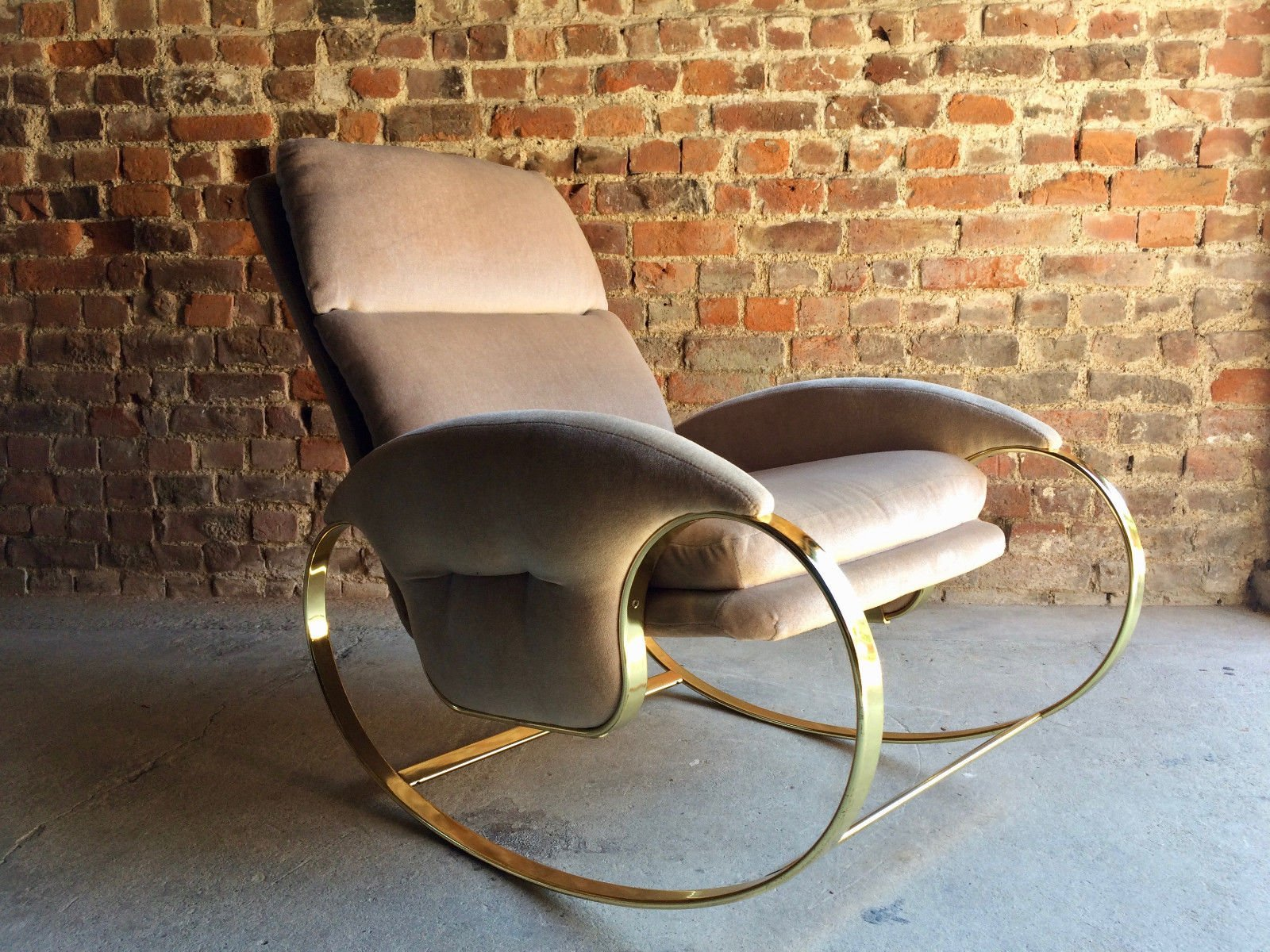 Mid Century Italian Rocking Chair by Guido Faleschini 1970s for