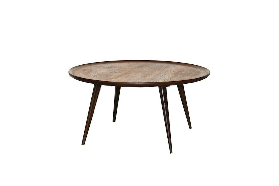 Vintage Round Teak Coffee Table For Sale At Pamono