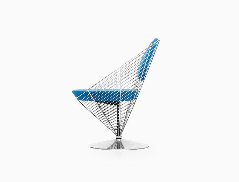 wire cone stuhl von verner panton f r fritz hansen bei pamono kaufen. Black Bedroom Furniture Sets. Home Design Ideas