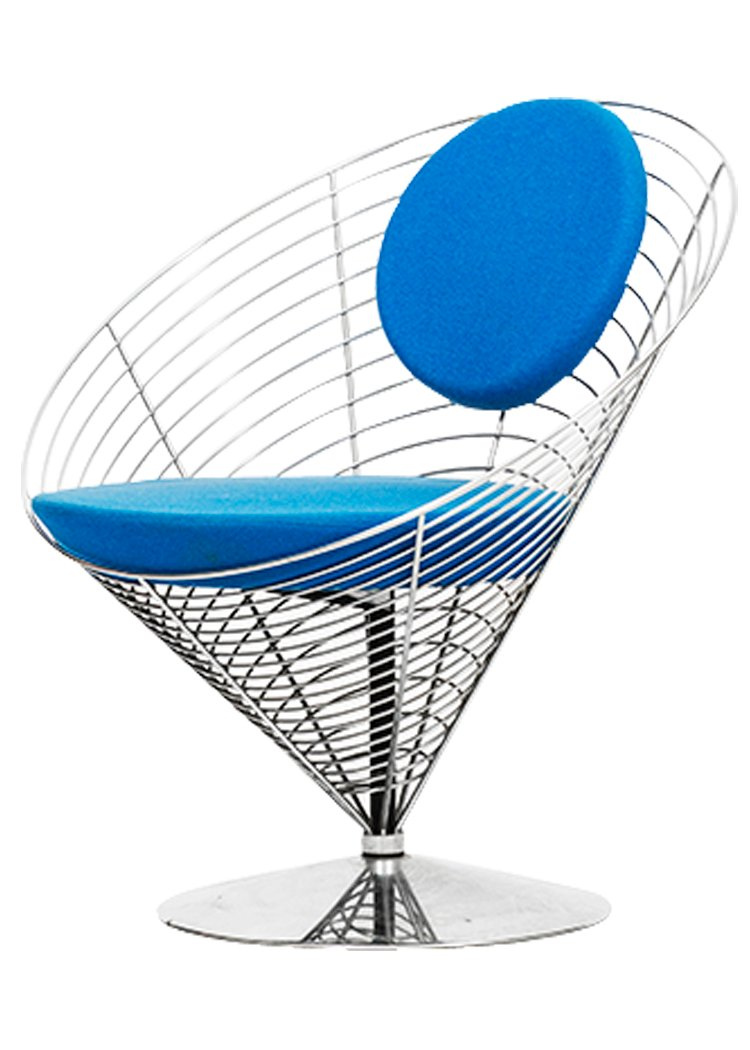 Wire Cone Chair By Verner Panton For Fritz Hansen