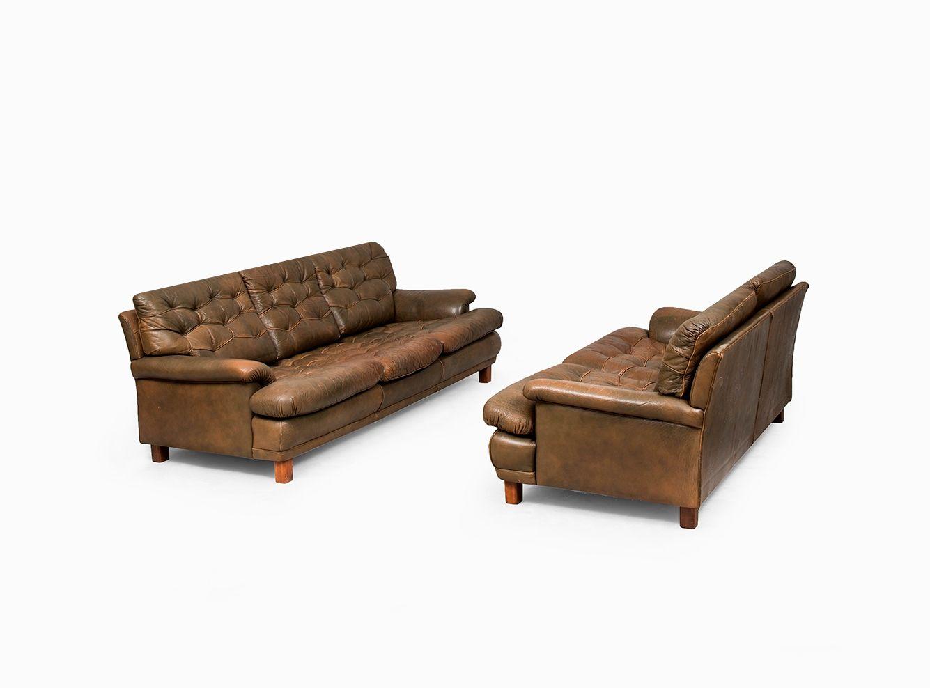 3 sitzer sofa von arne norell f r arne norell ab schweden for Schwedensofa