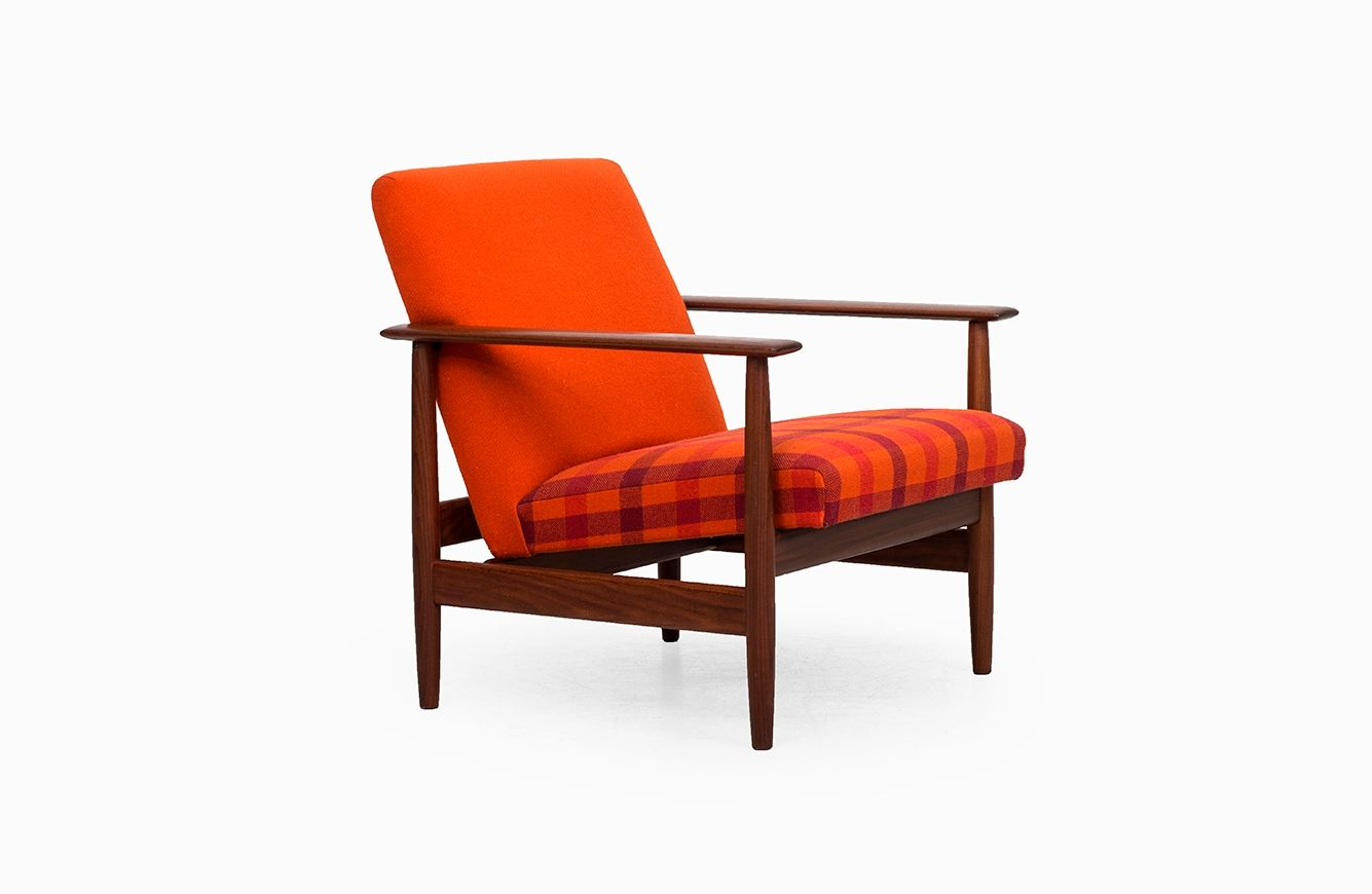 Mid Century Easy Chairs With Teak Frame 1960s Set Of 2