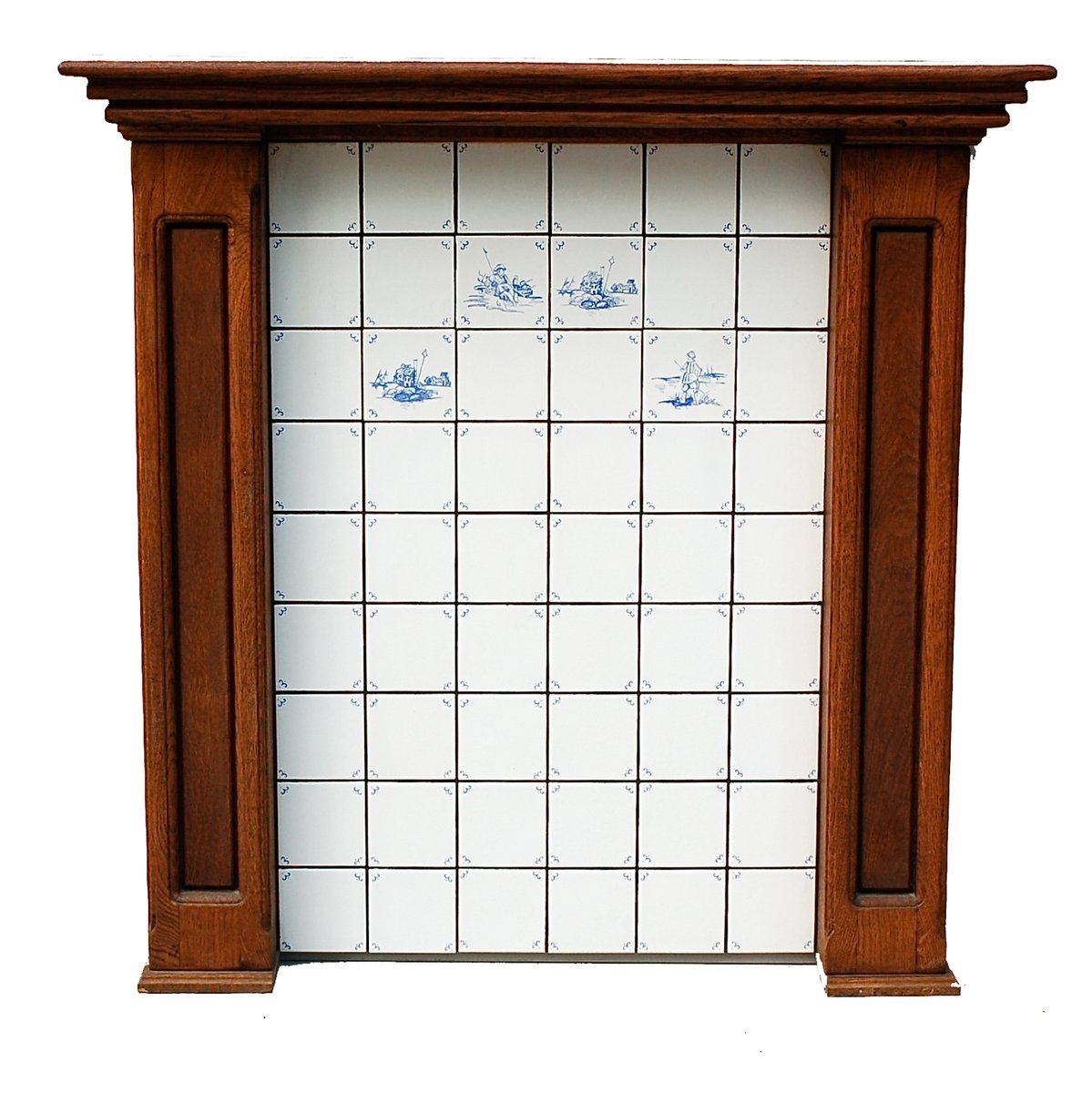 vintage kamin vorbau aus eiche bei pamono kaufen. Black Bedroom Furniture Sets. Home Design Ideas