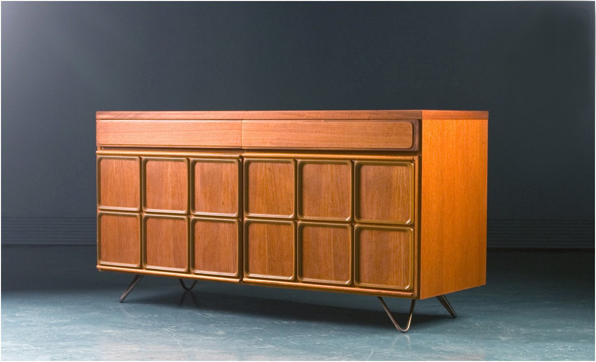 Mid-Century Teak Record Cabinet from McIntosh for sale at Pamono