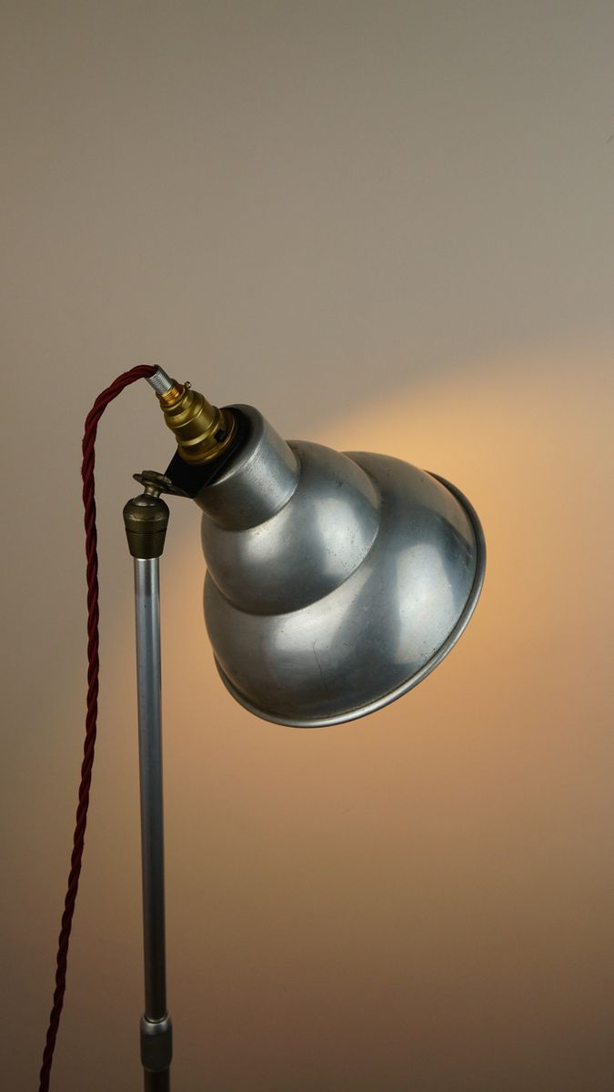Vintage British Industrial Photography Floor Lamp From