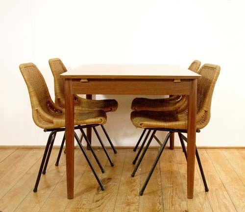Vintage esszimmertisch aus eichenholz 1960er bei pamono for Vintage esszimmertisch