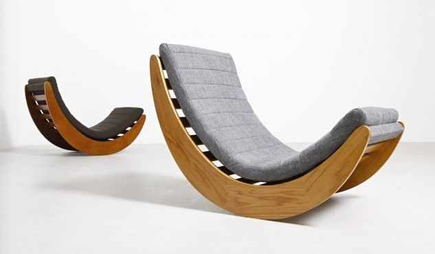 vintage rocking chair by verner panton for matzform for sale at pamono