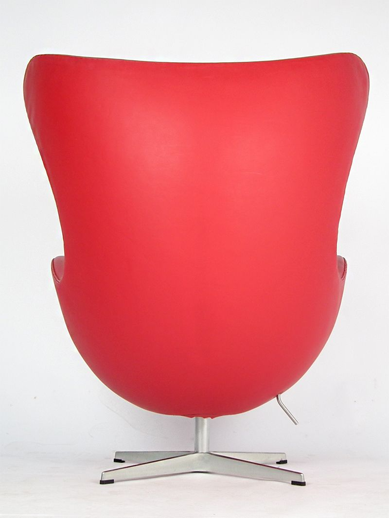 danish 3316 red leather egg chair by arne jacobsen for fritz hansen 1980s for sale at pamono. Black Bedroom Furniture Sets. Home Design Ideas