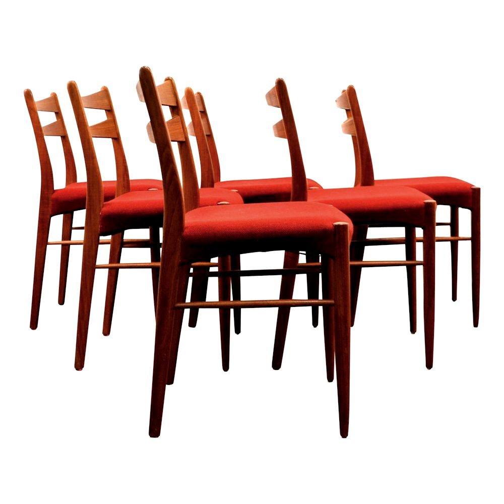 Vintage Danish Teak Dining Chairs in Wine Red Fabric Set  : vintage danish teak dining chairs in wine red fabric set of 6 3 from www.pamono.com size 1000 x 1000 jpeg 66kB
