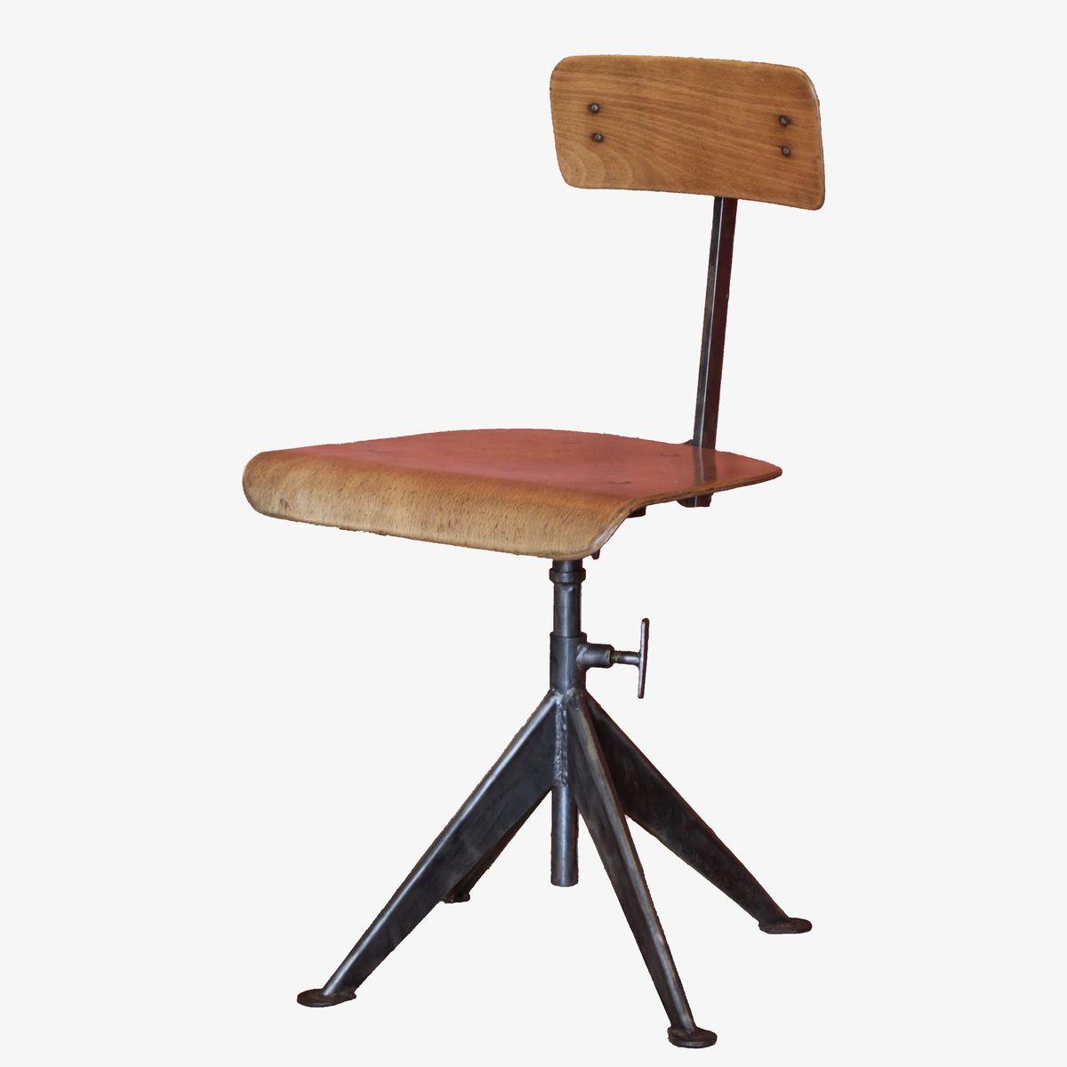 vintage office swivel chair by jean prouve 10 17 Superbe Chaise originale Hyt4