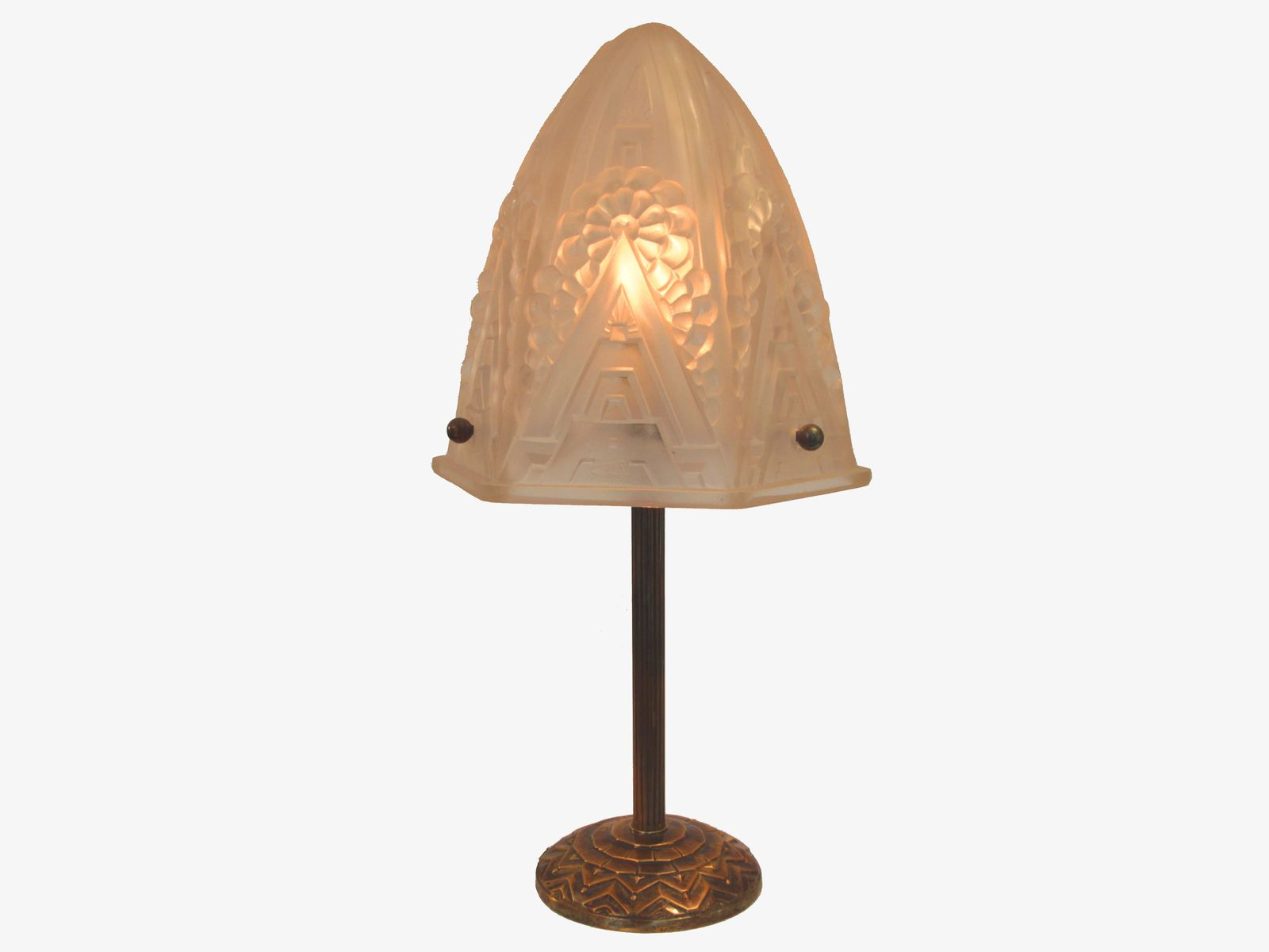 Art deco style table lamp by henri mouynet 1930s for sale for Art deco style lamp